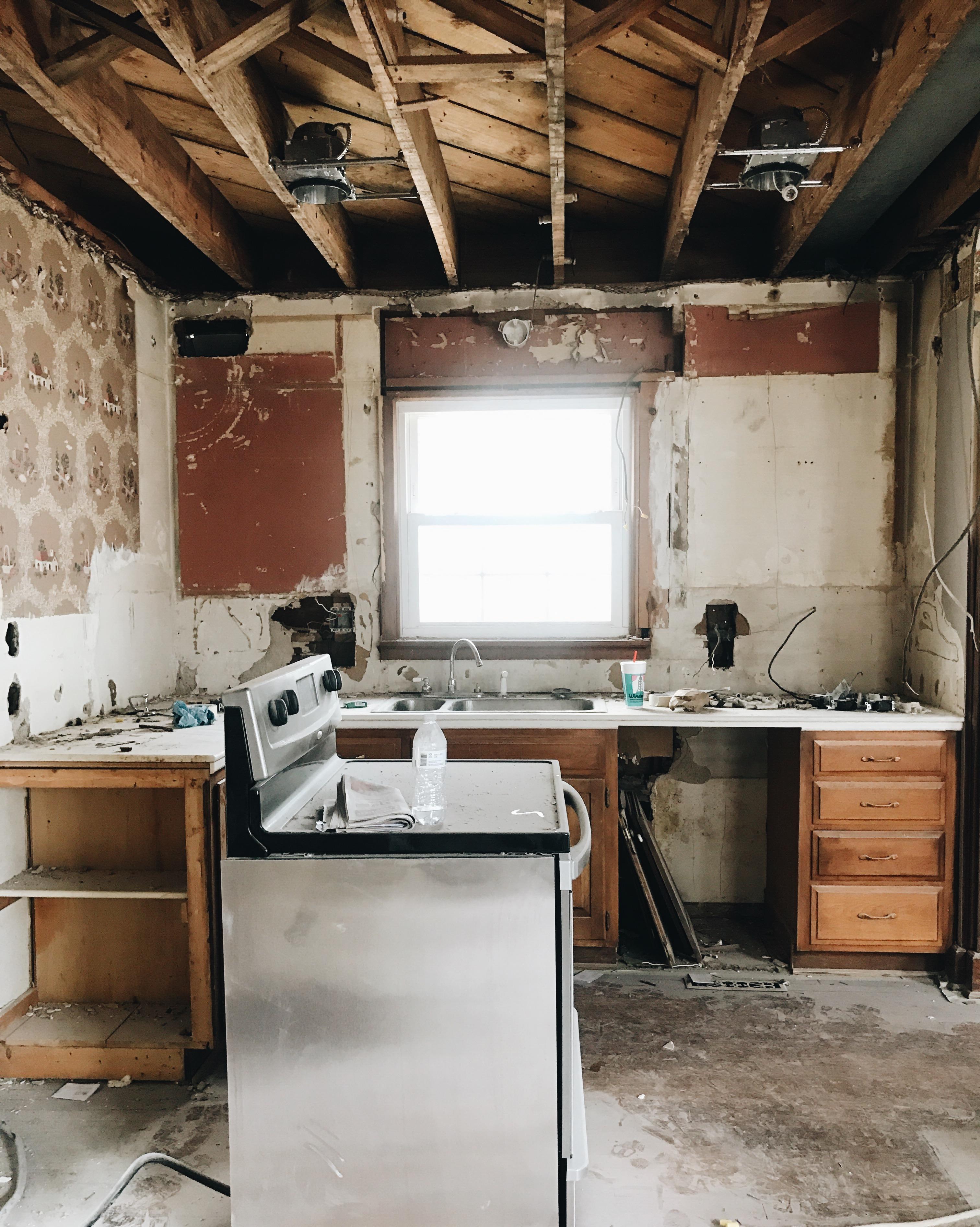 Kitchen Demo + Progress - GarvinAndCo.com