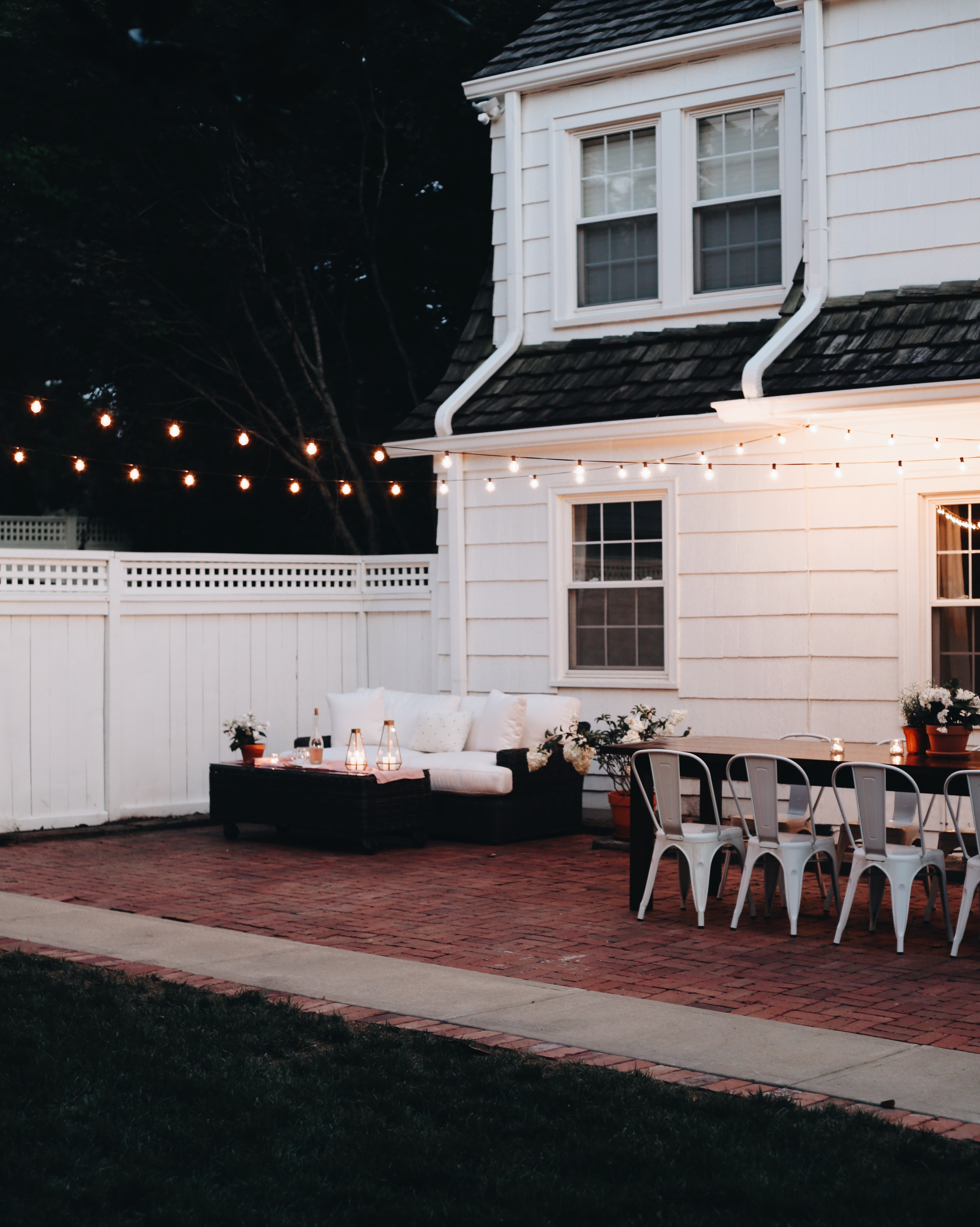 Amazing A Patio Makeover Morning Night A Giveaway Onthecornerstone Fun Painted Chair Ideas Images Onthecornerstoneorg